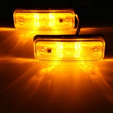 2pcs 4 LED Side Marker Light Indicator Lamp Bus Truck Trailer Lorry Caravan 10~30V E8