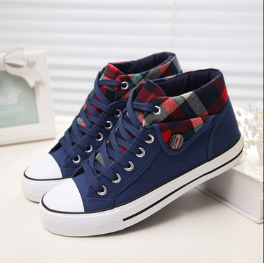 2016 new Cotton-made spring female student shoes in high casual canvas womens shoes all-match students shoes flat<br><br>Aliexpress