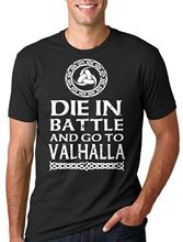 2017 Fashion Valhalla Vikings T-shirt Viking T-shirt Battle Valhalla Vikings Tee Shirt Custom Print Casual O-Neck Top Tee