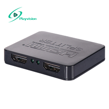 Mini 2 Port HDMI Splitter 1x2 1 in 2 out Switcher 4k 3D 1080p HDMI Distributor For HDTV PS3 Notebook set-top boxes player(China)