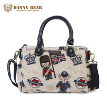 DANNY BEAR Female White Tote Bags Kawaii Casual Messenger Bag Vintage Women Fashion Handbags Cute Causal Ladies Shoulder Bags