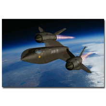 SR-71 Blackbird Aircraft Military Art Silk Poster Print 13x20 24x36 inches Sky Landscape Pictures For Wall Decor 001