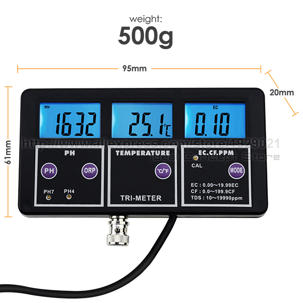 6-Ideal-Concept-water-quality-meter-PHM-233-Dimension