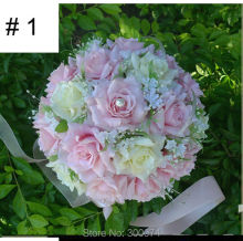 Bouquet, Big Size, 31heads of Artificial Silk Flower Roses, Bridal Handheld, White, Purple,Free delivery to Many Countries