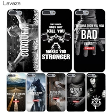 Lavaza Phone Cases Loving Bodybuilding Gym Fitness Hard Transparent Cover Case for iPhone X 10 8 7 6 6S Plus 5 5S SE 5C 4 4S(China)