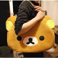 Cute Big Plush Relax Brown Bear  Bag Handbag Shoulder Bag
