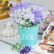 Modern small fresh eternal life decoration flower artificial dried flowers silk flower 10PCS lavenders home diy decorate(China)