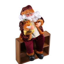 35cm Sitting Christmas Sitting Santa Claus Doll Figurine Toy Christmas Ornament Decoration Stylish Home Decor Xmas Party Gifts