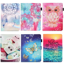 Dreaming Owl Painted Flip PU Leather Cover Case For iPad Mini 1 2 3 4 Tablet Sleeve Case For Apple iPad mini4 mini3 mini2 mini1