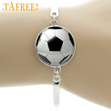 TAFREE Brand Fashion football image bracelet vintage soccer rugby men women ball fans jewelry sports events & teams gifts T802(China)
