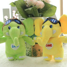 22cm Cute Elephant Plush Toys Stuffed Plush colorful Elephant cloth doll birthday gift for Children kids toys doll