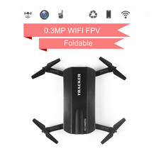 JXD 523 Selfie Drone Tracker Foldable Mini Rc Drone with Wifi FPV Camera Altitude Hold/Headless Mode RC Helicopter VS JJRC H37