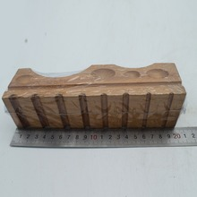 Wood Forming Block Grooved Channels Jewelry Wooden Cube Forming Tool Jewelry Mold