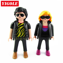 2pcs/set Original Playmobil Figure Toy City Life Fashion Couple Action Figures Kids Best Toys Gift(China)