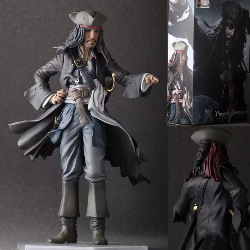 30cm Crazy Toys Pirates of the Caribbean Jack Sparrow Jackie Captain PVC Action Figure Collectible Model Toy<br>