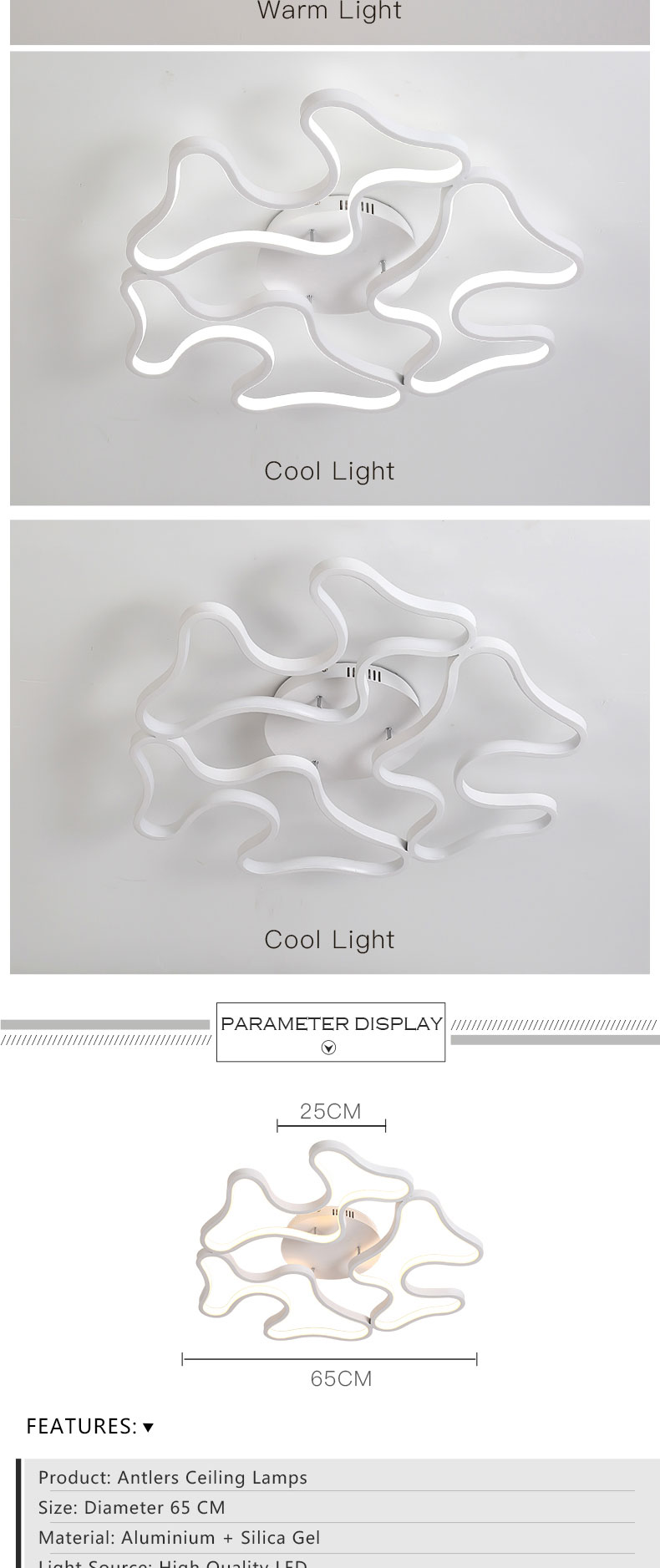 Led Ceiling Lamp Aluminum