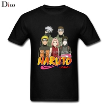Team Naruto T Shirt Men Crazy Short Sleeve Cotton Custom XXXL Group T-shirts(China)