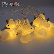JOY-ENLIFE 2M Halloween Decoration LED Unicorn Head String Lights Lanterns Lamp DIY Halloween Home Bar Outdoor Party Supplies
