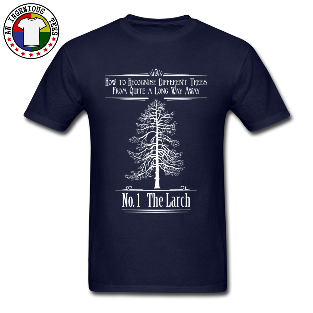 Tops T Shirt No. 1 The Larch 3301 T Shirts Autumn Funky Customized Short Sleeve 100% Cotton O-Neck Men T-Shirt Customized No. 1 The Larch 3301 navy