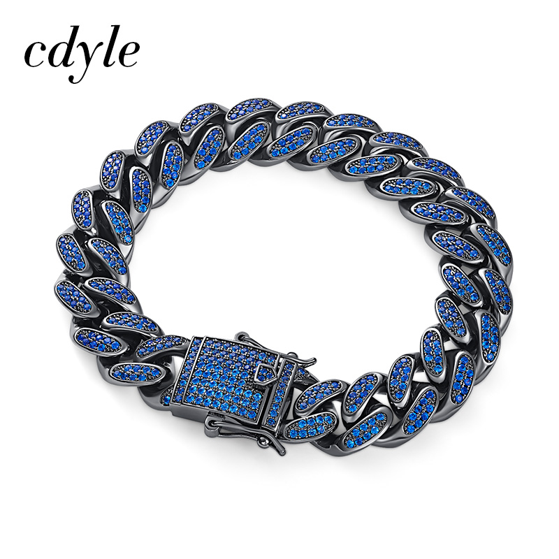 Cdyle Men's Bracelets Silver Stainless Steel Curb Cuban Link Chain Bracelets For Men Jewelry Gifts To Boyfriend/Father