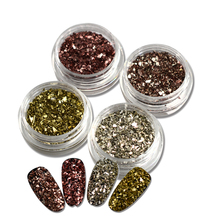 1g/bottle Nail Art Crushed Glass Powder Decoration Broken Nail Decoration Galss Glitter Powder for UV Gel Nail Manicure SAND289(China)