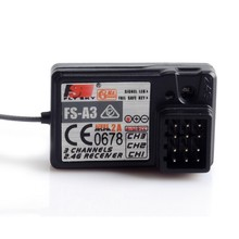 Original Flysky FS-A3 3 channel receiver compatible for fly sky Transmitter Controller FS-GT2E FS-GT2F FS-GT2G(China)