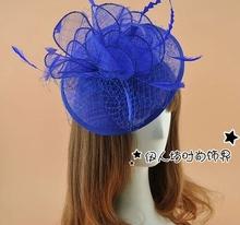 Cheap Wedding Bridal Hats Party Cocktail Women Fascinator Party Wedding Feather Veil Hat Hair Clip Gift Fascinator Hats