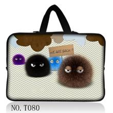 "Cute Fuzzy Ball 17"" 17.3"" Laptop Bag Carry Case Sleeve Computer Cover+Hide Handle(China)"