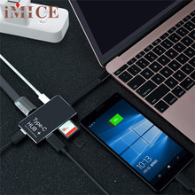 Reliable 6-in-1 USB-C Hub Type-C Charging Power Delivery HDMI 4K SD/TF Card Reader 1 x USB Type-C HUB+1 x User Manual