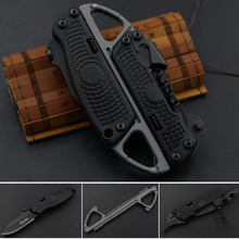 New Multifunction Combat Tactical Folding Knife + Opener + Serrated + Carabiner Combination Knives Set Tools(China)