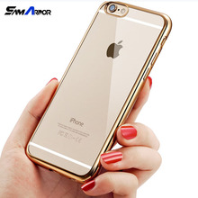 Luxury Glitter Bumper Silicone Case For iPhone 8 5 5S SE 6 6S 7 X Plus Transparent Cover Rose Gold Coque Fundas Cases(China)