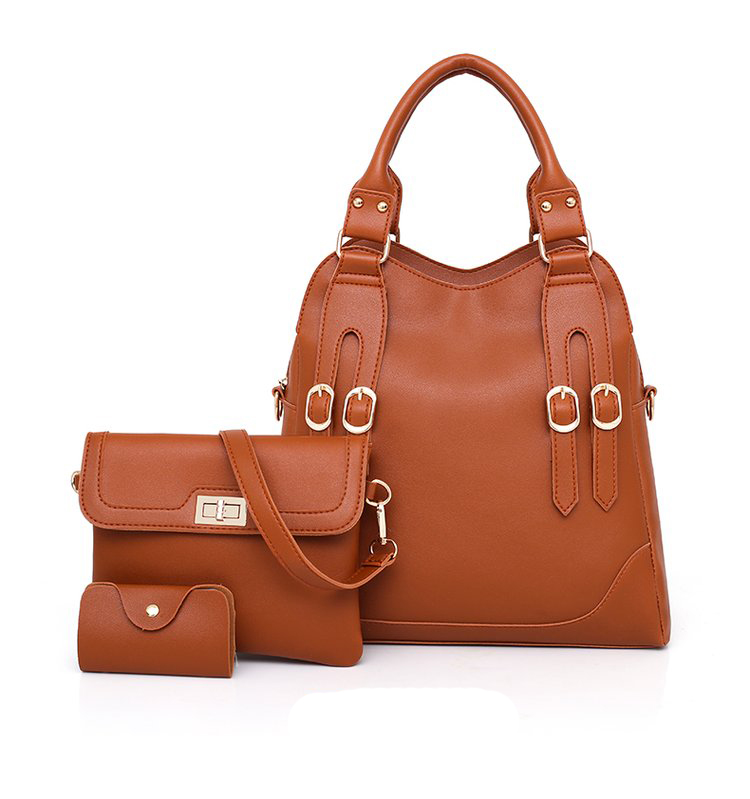 Women Bag PU Leather Female 3 Sets Handbags Women Ladies Shoulder Bags Composite Casual Tote Solid Bag for Women DropShipping 36