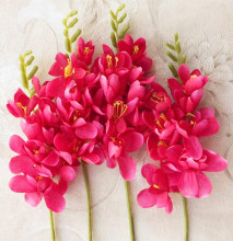 18pcs per lot Freesia Flower Fake Orchid Single Stem for Wedding Centerpieces Floral Arrangement Artificial Decorative Flowers