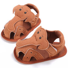WONBO Baby Shoes Crib Pram Boy Cute Cartoon Elephant Summer First Walkers Kid Toddler Soft Soled Anti-Slip Hollow Shoes