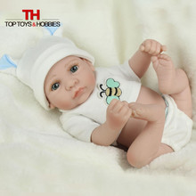 Baby Reborn Doll Mini Silicone Bebe Dolls Realistic Bonecas Fake Babies With Blue Eyes for Kids Toys Birthday Gift
