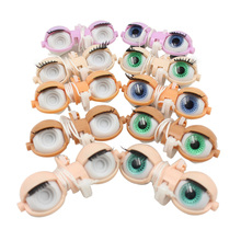 Blyth doll eyes accessories eye chips factory nude blyth doll white normal dark purple skin eyes for dolls DIY doll(China)