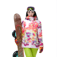 GSOU SNOW Women's Ski Jacket Snowboard Ski Suit Outdoor Sports Ladies Snow Coat Waterproof Windproof Breathable Warm Clothing