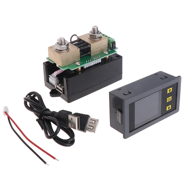 400V 300A DC Wireless Digital Bi-directional Voltage Current Power Meter Ammeter Voltmeter Capacity Coulomb Counter<br>
