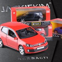 Sale 1:36 scale high simulation car,metal pull back 6th generation Golf GTI,Double-door small steel gun,free shipping(China)