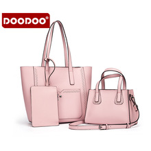 DOODOO 2017 Women Genuine Leather Handbags Cowhide Women's Messenger Shoulder Bags new Patent school bags for girls new T539(China)