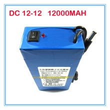 DC 12-12 Portable 12V DC 12000mAh Rechargeable Li-ion Battery for wireless transmitter CCTV camera blue 10PCS/LOT with charger
