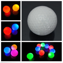 1Pc New Hot Sale Light-up Flashing Night Light Glowing Fluorescence Golf Balls Golfing Wholesale(China)