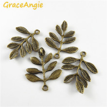 Buy 20pcs Whosesale Vintage Style Antique Bronze Leaf Charms Pendant Jewelry Making Accessory Finding Necklace for $3.07 in AliExpress store