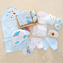 18 pieces/ set gift newborn baby clothes clothing set cotton infant underwear suit baby full moon clothing for spring and autumn