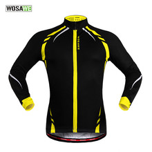 Buy WOSAWE Winter Cycling Jacket Men Thermal Fleece Long Sleeve Bike Bicycle Jerseys Outdoor Sports Windproof Outerwear Clothing for $29.89 in AliExpress store