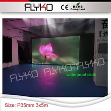 waterproof P3.5 video function stage decoration 3mx5m full sexy vedio dj party equipment led stage curtain