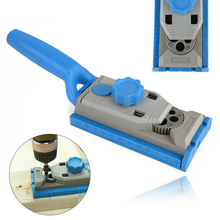 Mayitr Wood Work Tool Jig Pocket Hole jig System For Wood Working Drill Round Tenon Locator Carpenter Dowelling Jig Tools