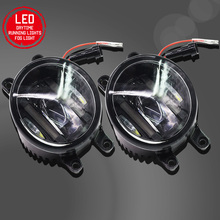 Buildreamen2 2 X Car LED Fog Light White Daytime Running Light DRL High Lumens For Toyota Avensis T25 Combi (T25) Estate Saloon