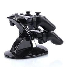 Durable PVC Material Dual USB Charging Dock Station Stand For Two PS3 Controller For Playstaion 3 Great Charger