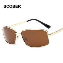 Name Brand Classic Design High-end Polarized Alloy Frame Sunglasses & Case Men Women Square Open Air Driving Sun Glasses SA07